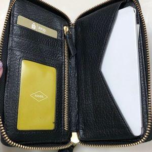 Black fossil phone case